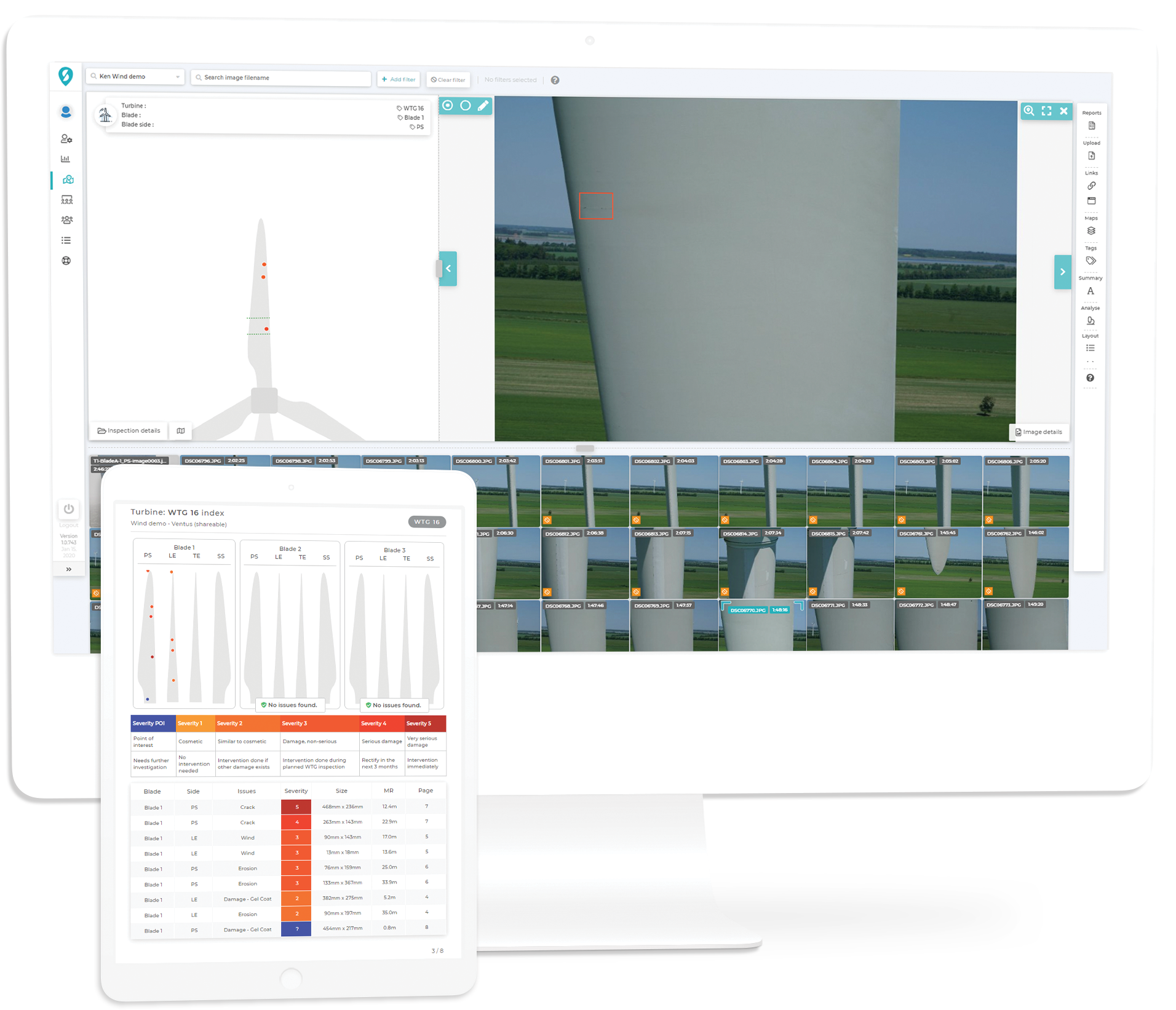The leading edge of wind turbine inspection software - Scopito