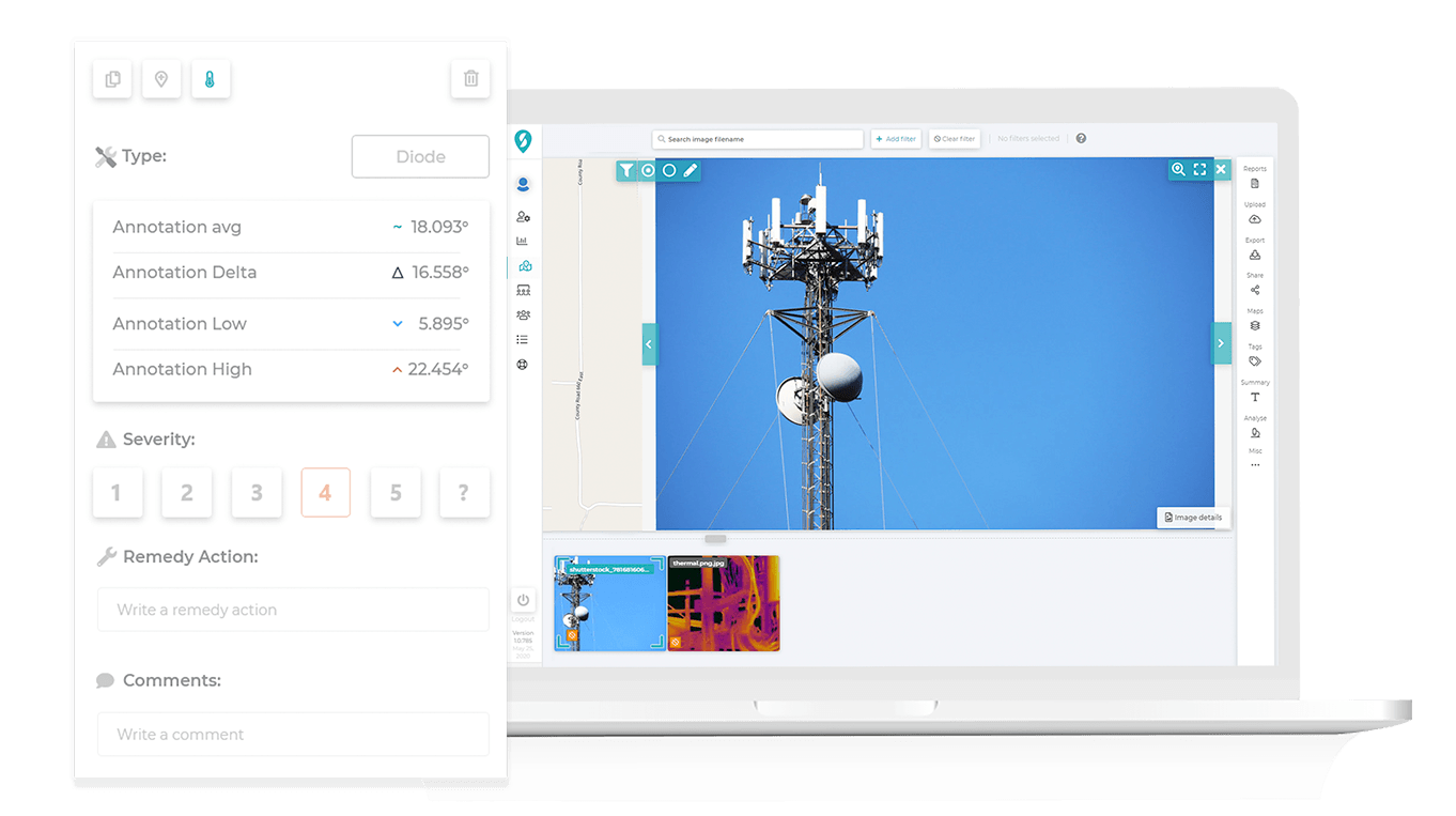Cell tower inspection software