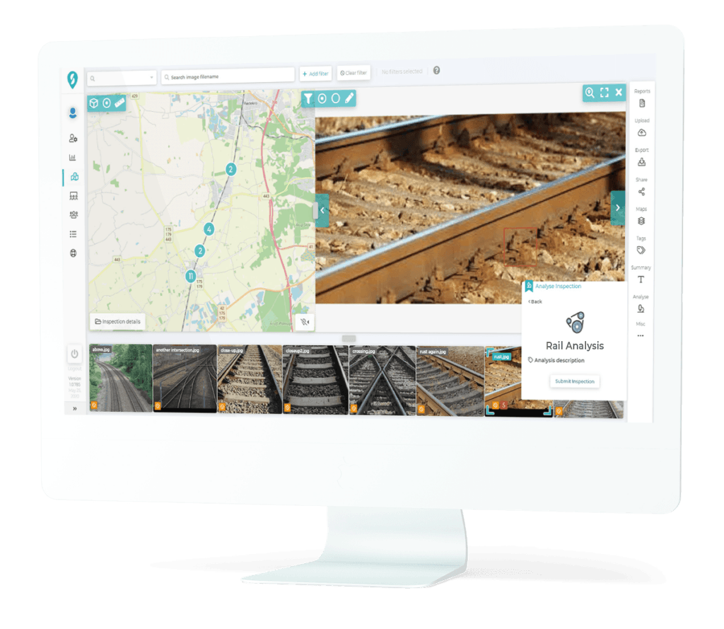 Road rail inspection software